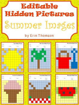 Editable Hidden Pictures ~ Summer Fun