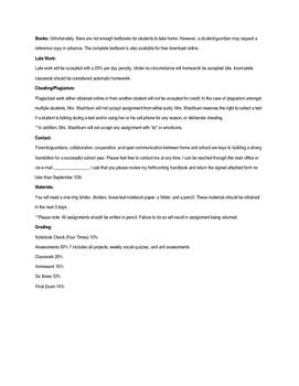 Editable High School Syllabus