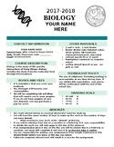 Editable High School Syllabus - Biology