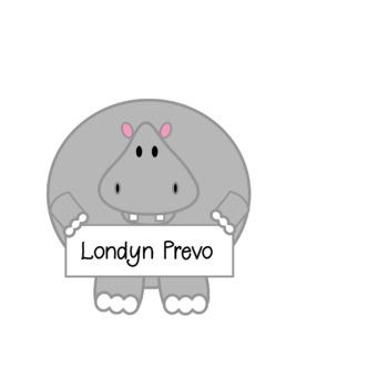 Editable Hippo name tag