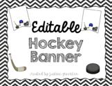 Editable Hockey Flags Pennant Banner