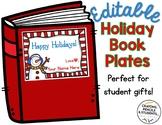 Editable Holiday Book Plates