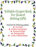 Editable Holiday Christmas Student Coupon Book