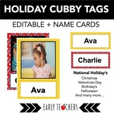 Editable Holiday Cubby Tags & Name Cards