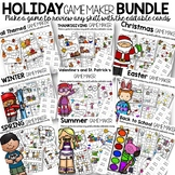 Holiday Game Boards to Use for Review Games