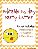 Editable Holiday Party Letters
