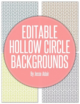 Editable Hollow Circle Backgrounds