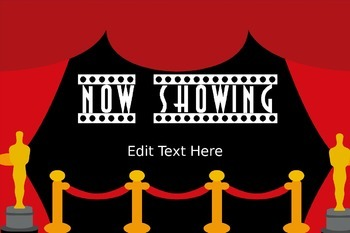 *Editable* Hollywood Classroom Welcome Sign