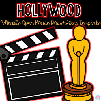 Editable Hollywood Themed Open House Powerpoint Template Tpt