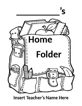 Editable Home Folder Cover