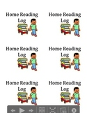 Editable Home Reading Log Label