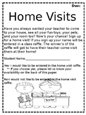 Editable- Home Visit Note