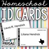 Editable Homeschool ID Cards (for Teacher and Students) 2020-2021