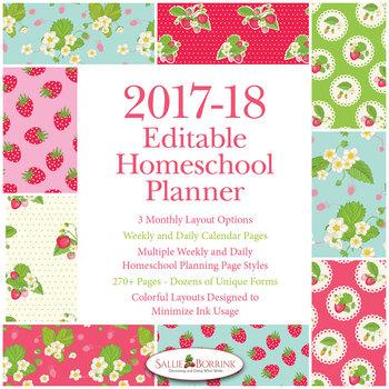 Editable Homeschool Planner – 2017-2018 Academic Year – Strawberries