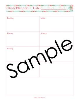 Editable Homeschool Planner – 2018-2019 Academic Year – Pink Roses