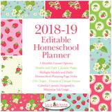 Editable Homeschool Planner – 2018-2019 Academic Year – Strawberries