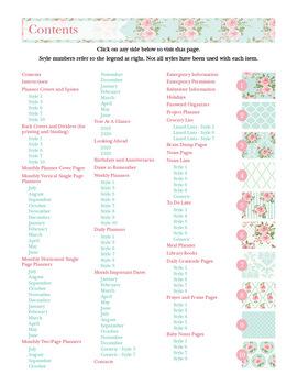 Editable Homeschool Planner – 2019-2020 Academic Year – Pink Roses