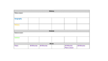 Editable Homeschool Weekly Schedules
