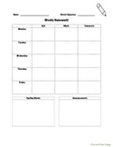 Editable Homework Cover Sheet
