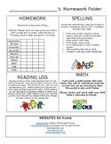 Editable Homework Cover Sheet Weekly