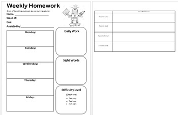 FREEBIE Editable Homework Coversheet