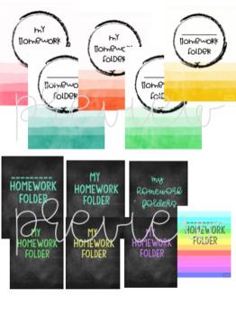Editable Homework & Data Folder