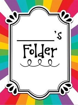 Editable Homework Folders