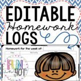 Editable Homework Logs