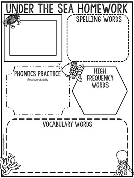 Editable Homework Sheets