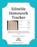 Editable Homework Tracker