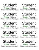 "Editable Homework or ""Friday"" Folder Labels"