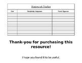 Editable Homework tracker