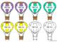 Editable Hot Air Balloon Name Tags