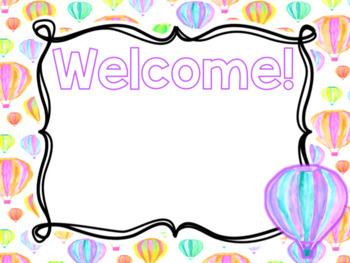 Editable Hot Air Balloon Themed Open House PowerPoint Template