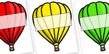 Editable Hot Air Balloons (Plain)