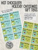 Editable Hot Chocolate Christmas Gift Tags