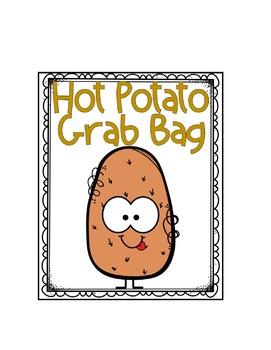 Editable Hot Potato Labels and Cards Freebie