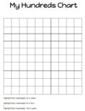 Editable Hundreds Chart for Students