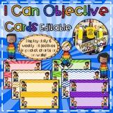 I Can Objective Cards (Editable)