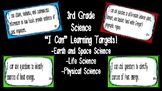 "Editable ""I Can"" Science Learning Targets (3rd Grade) - GSE"