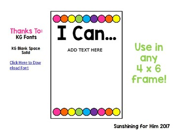 "Editable ""I Can"" Statement Signs"