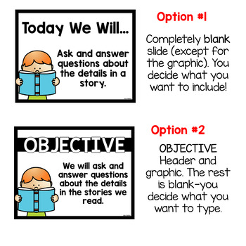 Editable I Can Statements & Objectives Posters Templates