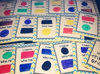 Editable I Have, Who Has Game Cards - Set of 24