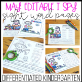 Editable I Spy Sight Word Pages - May