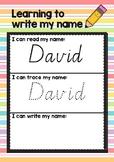 Editable- I can write my name