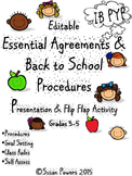 Editable IB PYP Back to School Welcome Procedures Presentation and Activity