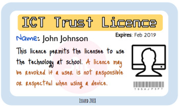 Editable ICT/Technology Trust Licences