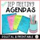 Editable IEP Agenda