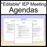Editable IEP Agenda Template [IEP Meeting Agenda] [Sped Me