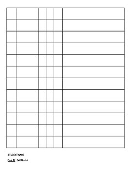 Editable IEP Data Sheets -Behavior, Self Control, Decoding, Writing, Phonics,